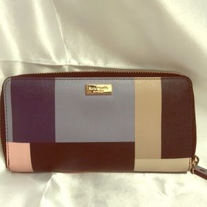 Kate Spade geometric wallet with bag